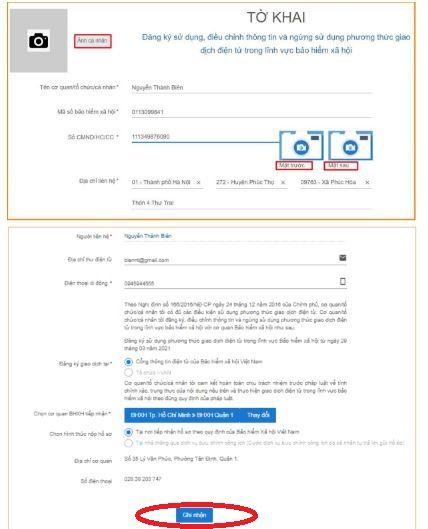 Kê khai đầy đủ thông tin đăng ký tài khoản ứng dụng VssID khi tra cứu bảo hiểm xã hội