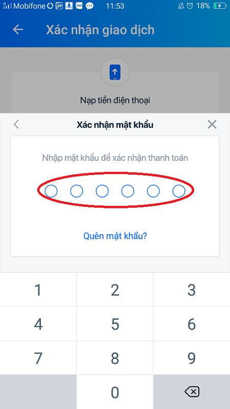Nạp tiền qua ví điện tử liên kết với VietcomBank 8