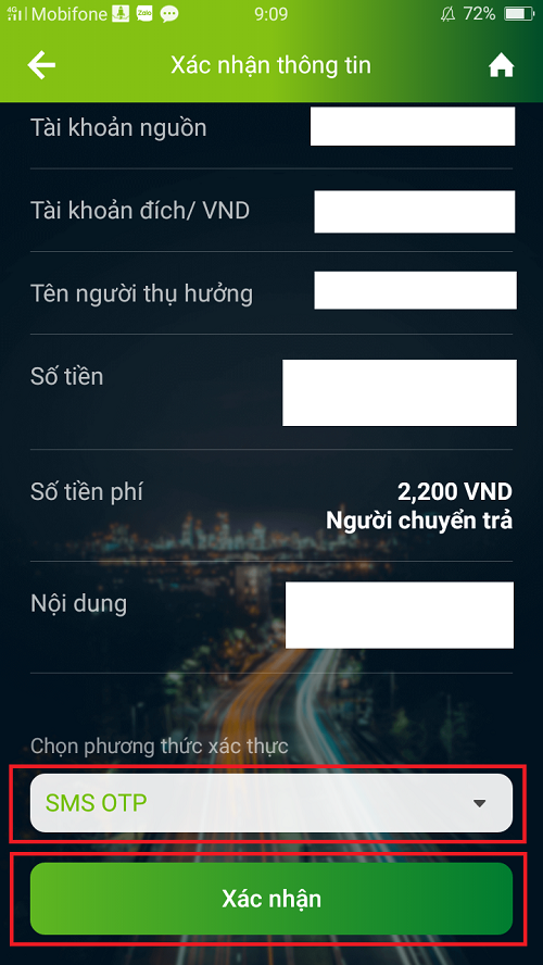 Chuyển tiền Vietcombank qua VCB Digibank 4