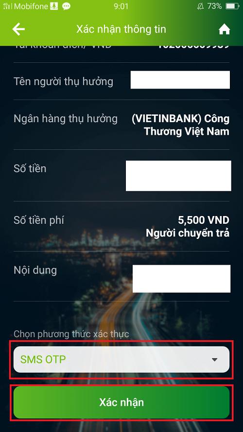 Chuyển tiền nhanh 24/7 từ Vietcombank sang ngân hàng khác 4