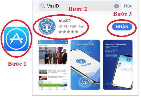 Tra bảo hiểm xã hội trực tuyến bằng điện thoại chỉ với ứng dụng VssID hệ điều hanh iOS