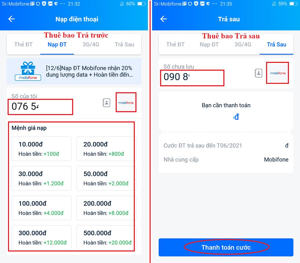 Cách nạp tiền điện thoại cho người khác qua Ví điện tử Zalo Pay 4
