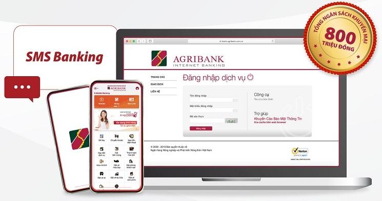 Chuyển khoản với Agribank SMS Banking