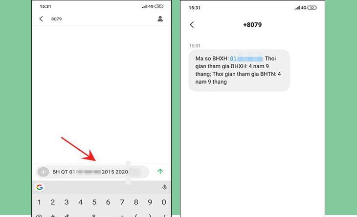 Cách tra cứu BHXH bằng tin nhắn điện thoại đơn giản, không cần mã OTP