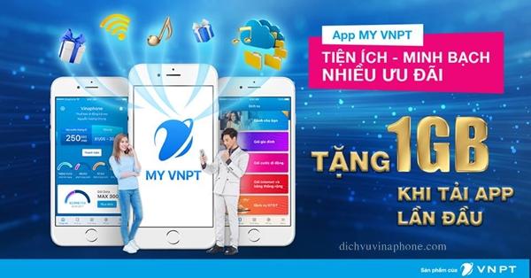 Nạp thẻ Vinaphone qua app my VNPT - Money24h