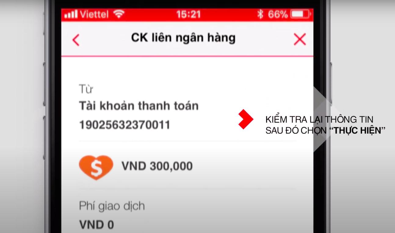 Cách chuyển khoản qua điện thoại bằng Mobile Banking TechcomBank 3