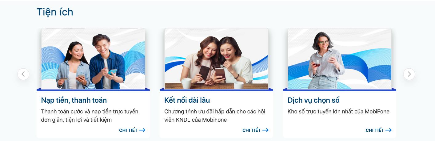 Nạp tiền điện thoại Mobifone thuê bao trả trước qua website Mobifone 2