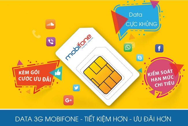 Nạp data 3G/ 4G Mobifone bằng thẻ data
