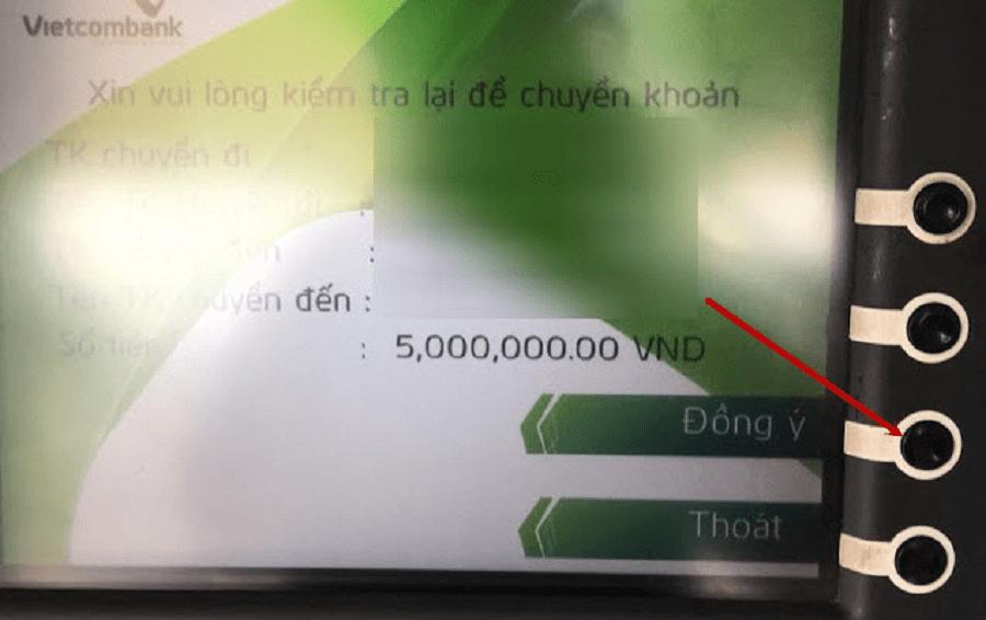 Chuyển tiền khác ngân hàng tại cây ATM 4