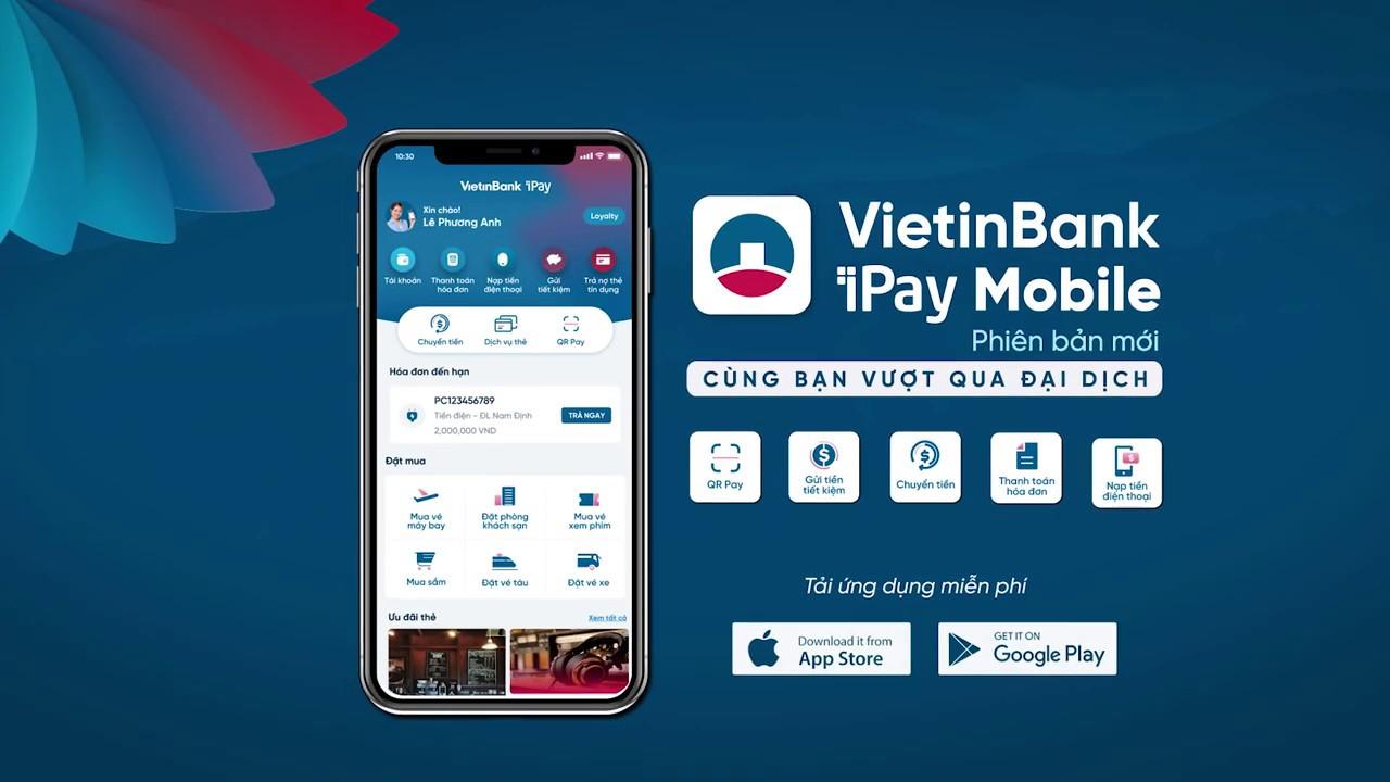 Thanh toán tiền nước qua ngân hàng điện tử Vietinbank