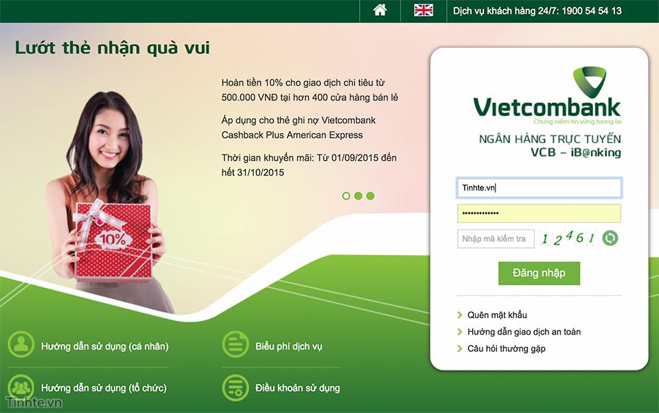 Vietcombank - Ngân Hàng TMCP Ngoại Thương Việt Nam - Ngân hàng điện tử