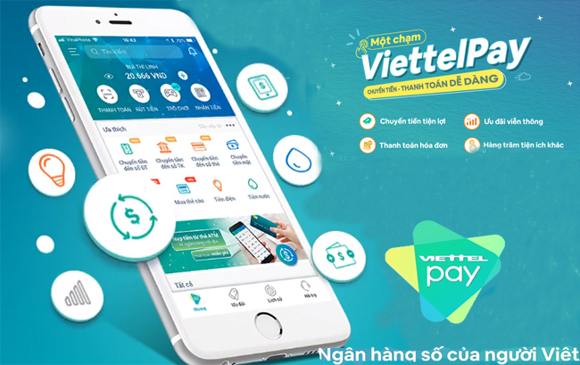 Thanh toán tiền nước qua ví điện tử Viettel Pay