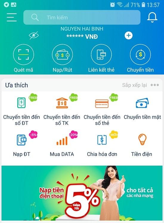 Cách nạp thẻ Viettel bằng mã QR qua ứng dụng ViettelPay 1