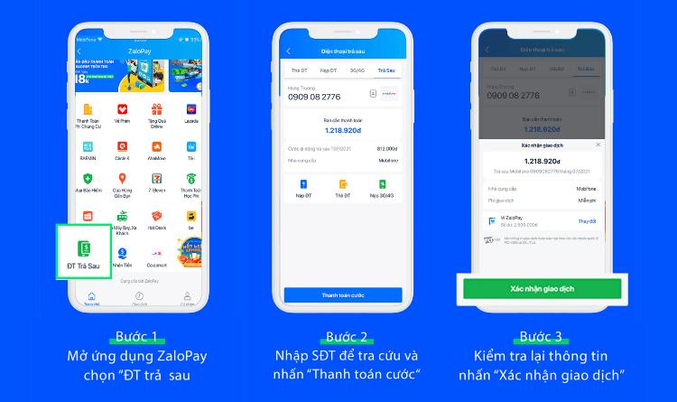 Cách nạp thẻ điện thoại trả sau trên ZaloPay