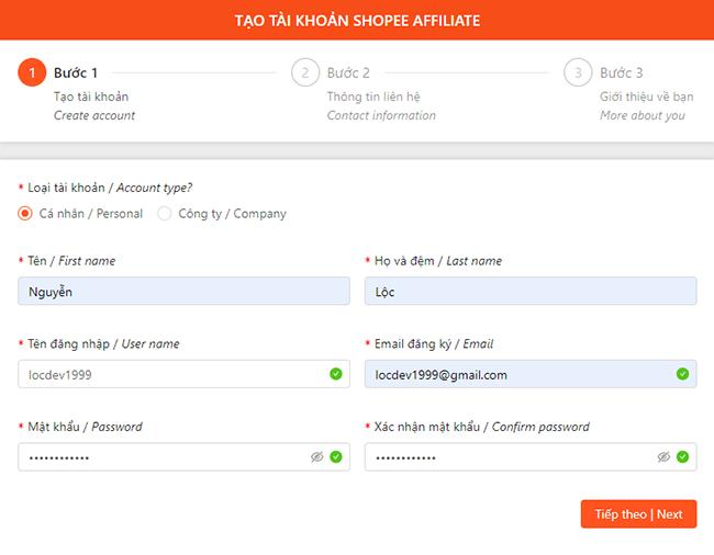 Tạo tài khoản tiếp thị liên kết Shopee - Shopee Affiliate